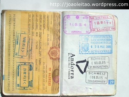 2º Passaporte 18 de Fevereiro de 2004 - Carimbos Passaporte 1