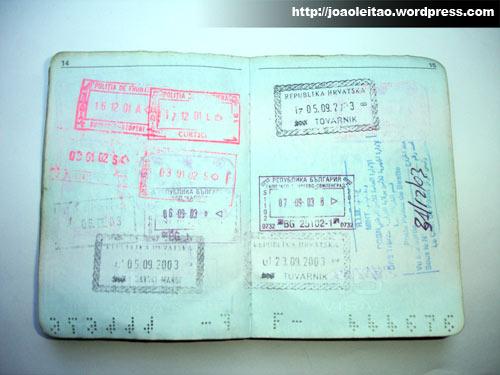 1º Passaporte 26 de Abril de 2000 - Carimbos Passaporte 2