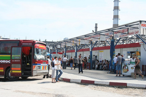 Autocarros Internacionais na Gare de Nord em Chisinau, Transportes na Moldávia 5