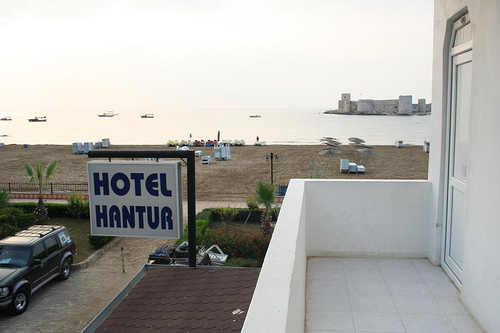 Hotel Hantur na Praia em Kizkalesi, Turquia 1