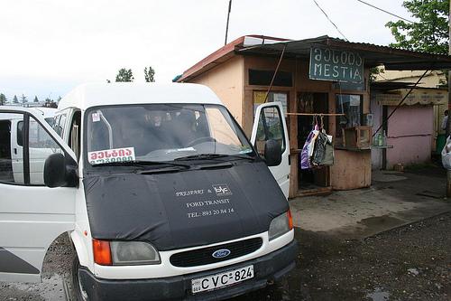 Transporte Marshrutka desde Zugdidi até Mestia 2