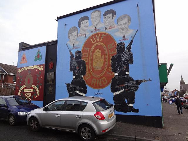 Murais políticos pintados em Belfast, Irlanda do Norte 15