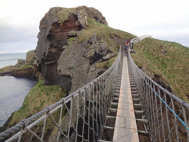 Ponte de corda de Carrick-a-rede, Irlanda do Norte 13