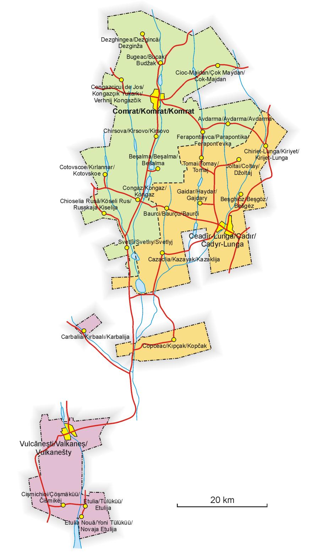 Mapa Grande da Gagaúzia 2