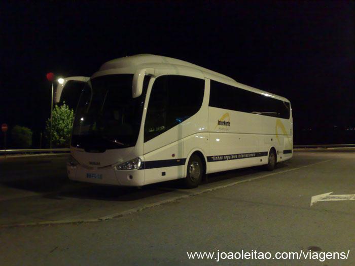 Autocarro da noite Sevilha Lisboa, Transportes Autocarro Espanha Portugal 14