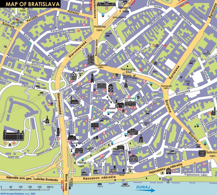 Mapas de Bratislava, Eslováquia 96