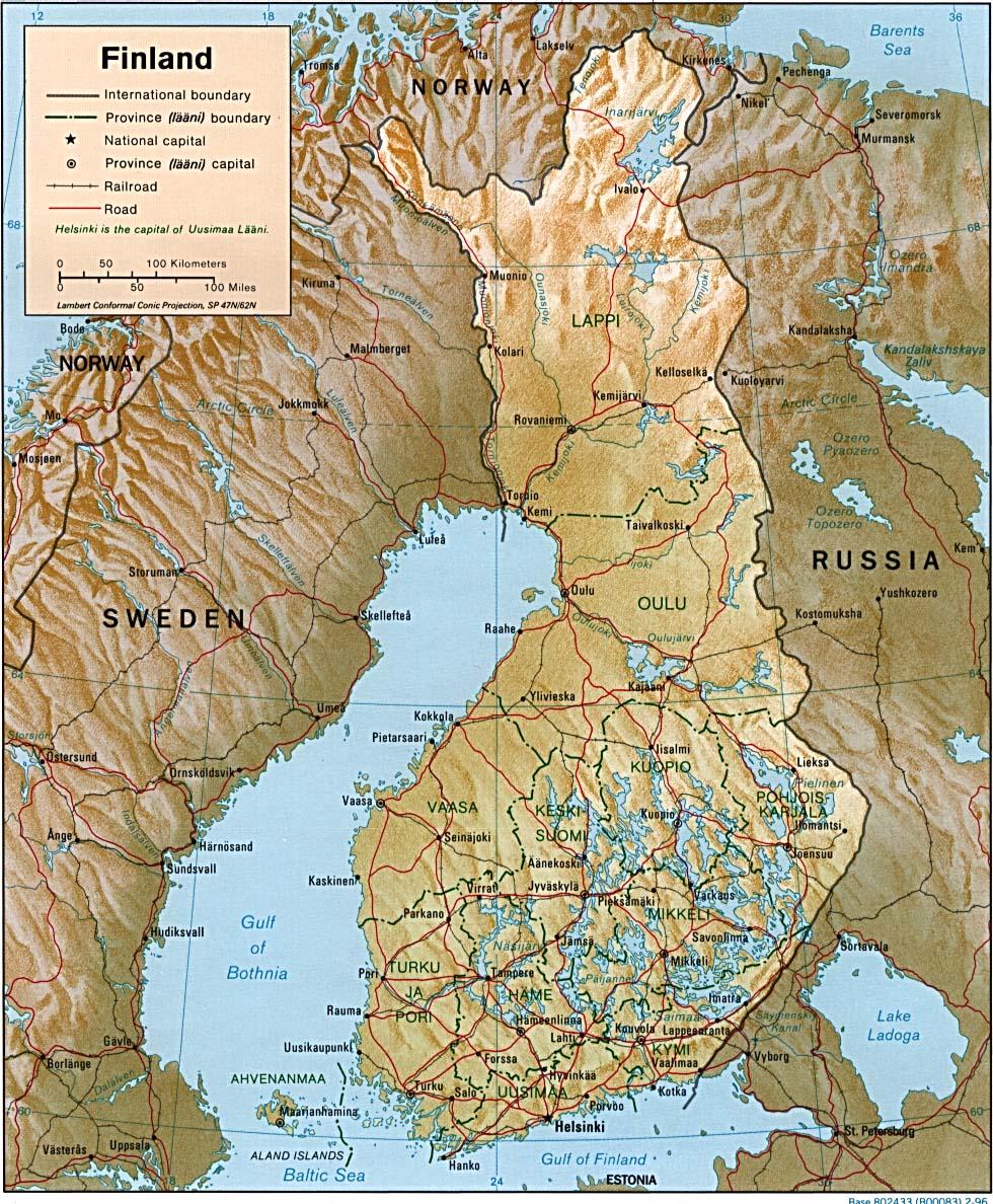 Mapa Grande da Finlândia 25