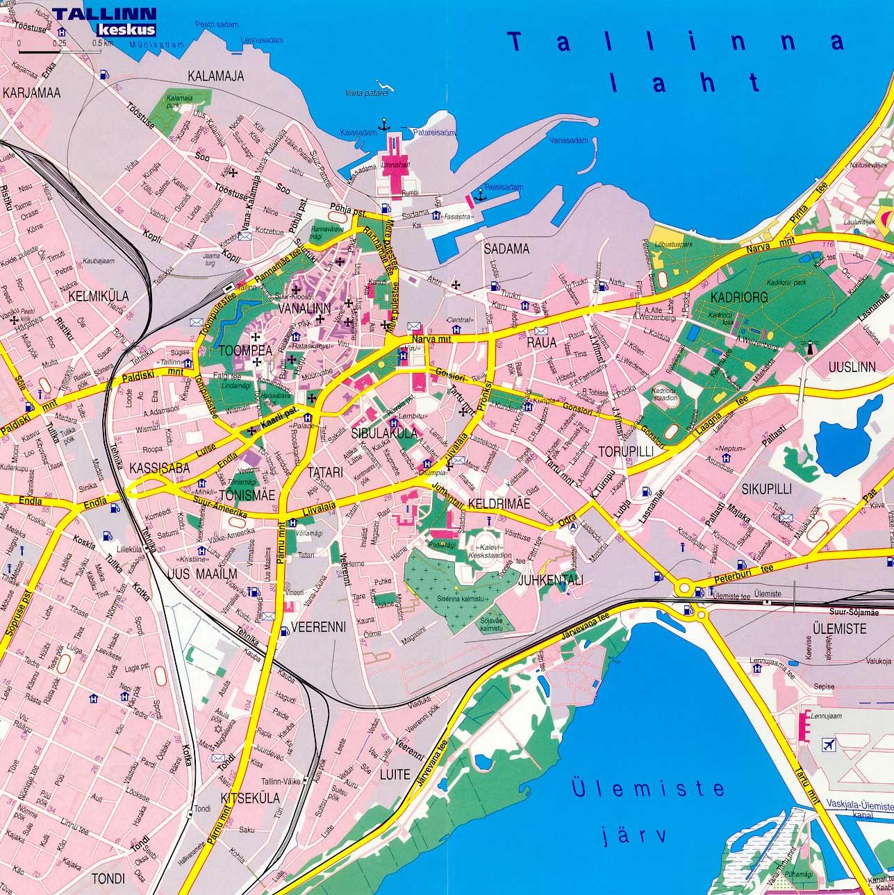 Mapa Grande de Tallinn, Estónia 1