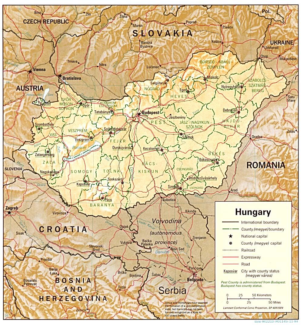 Mapa Grande da Húngria 2