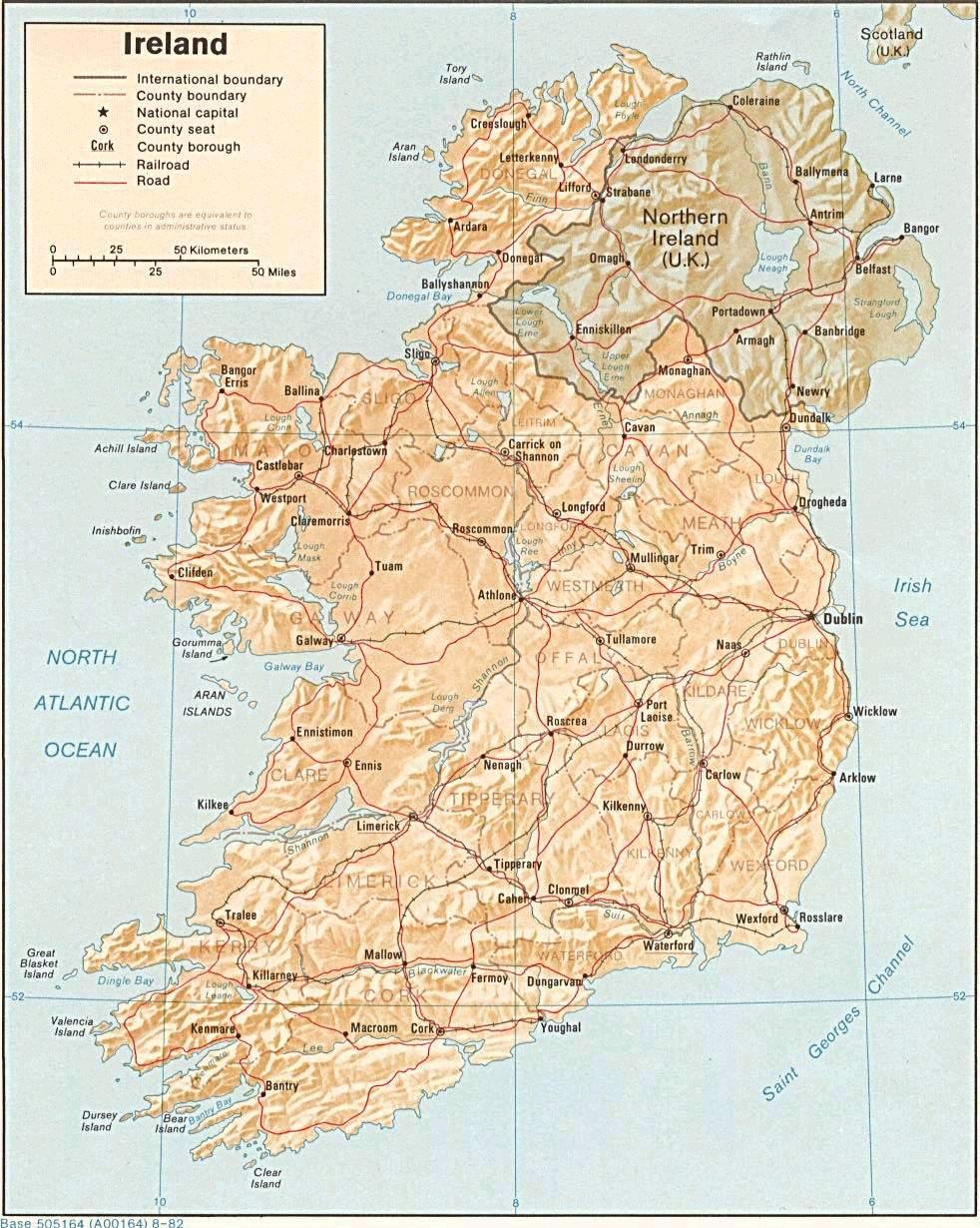 Mapa Grande da Irlanda 1