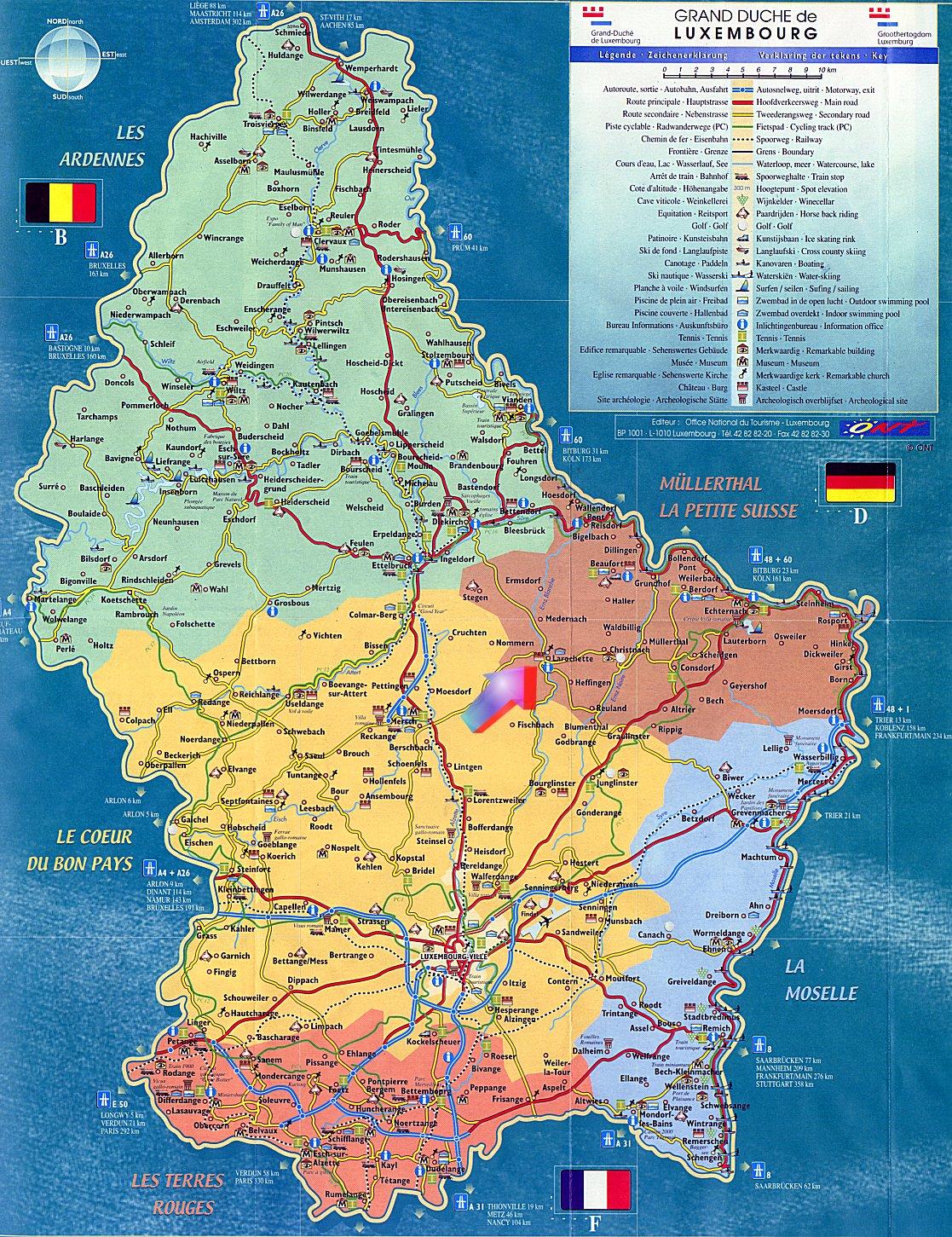 Mapas do Luxemburgo 3