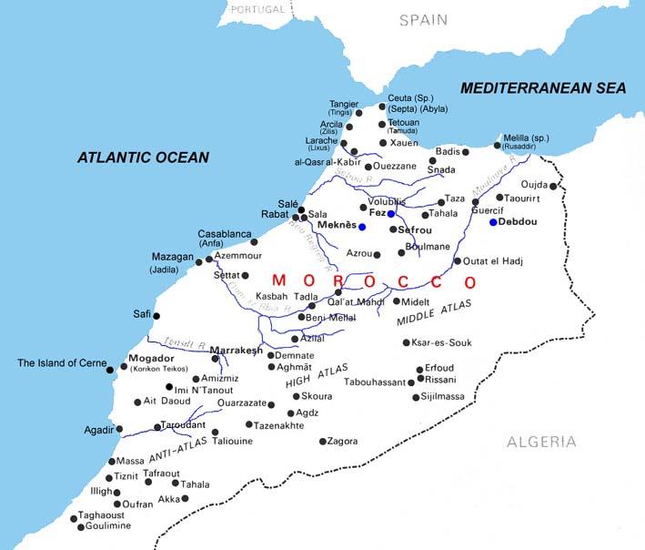 marrocos no mapa Mapa de Estradas de Marrocos, Mapa Muito Grande Marrocos, Marrocos  marrocos no mapa