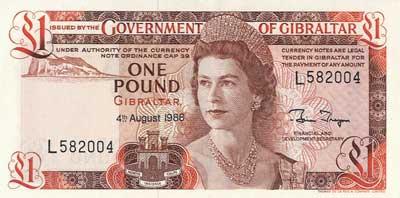 Moeda de Gibraltar, dinheiro de Libras gibraltinas 1