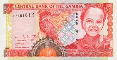 Moeda da Gâmbia, dinheiro de Dalasis gambianos 1