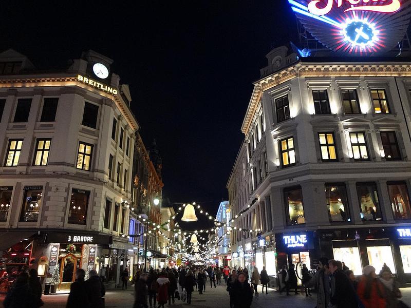 Fotografias de Oslo à noite, Noruega 1