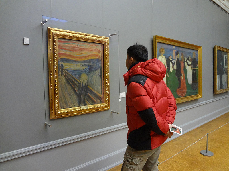 Fotografias do Museu National Gallery em Oslo, Noruega 1