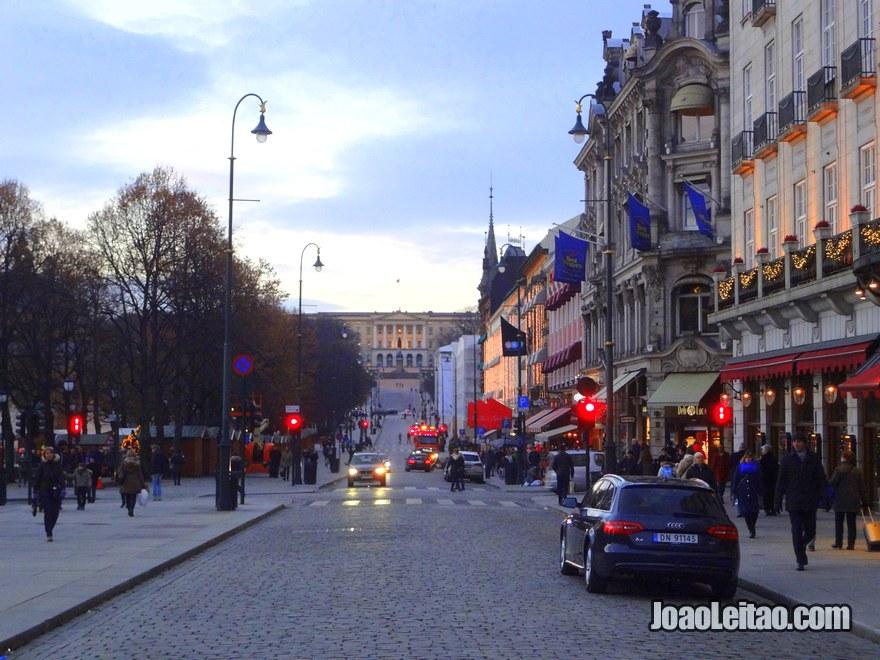 Foto do Palácio Real de Oslo