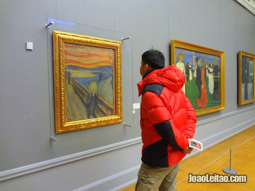 Foto da pintura Grito de Munch na Galeria Nacional
