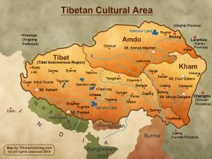 Mapa do Tibete