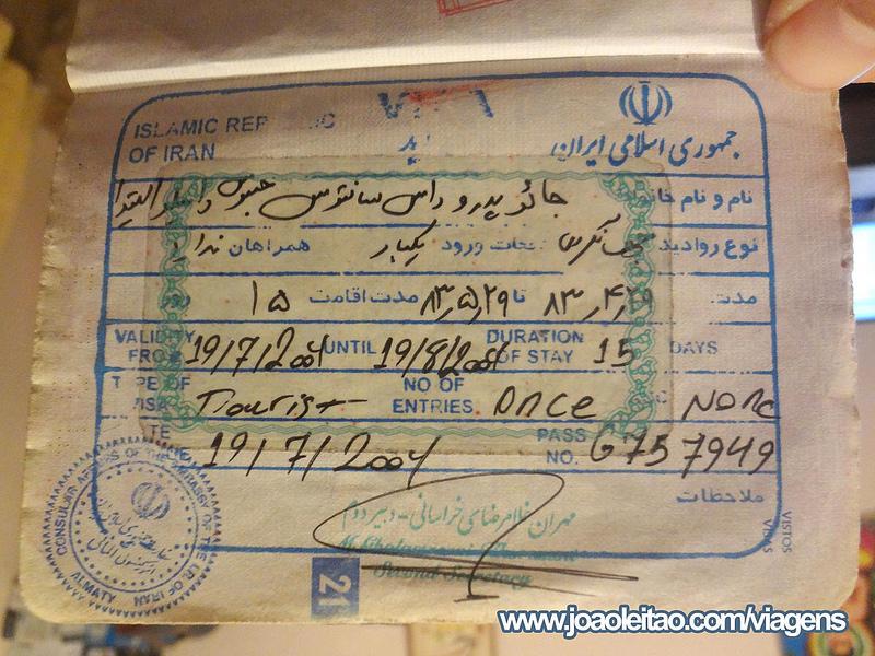 Visto para o Irão 29