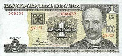 Moeda de Cuba, dinheiro de Pesos cubanos 4