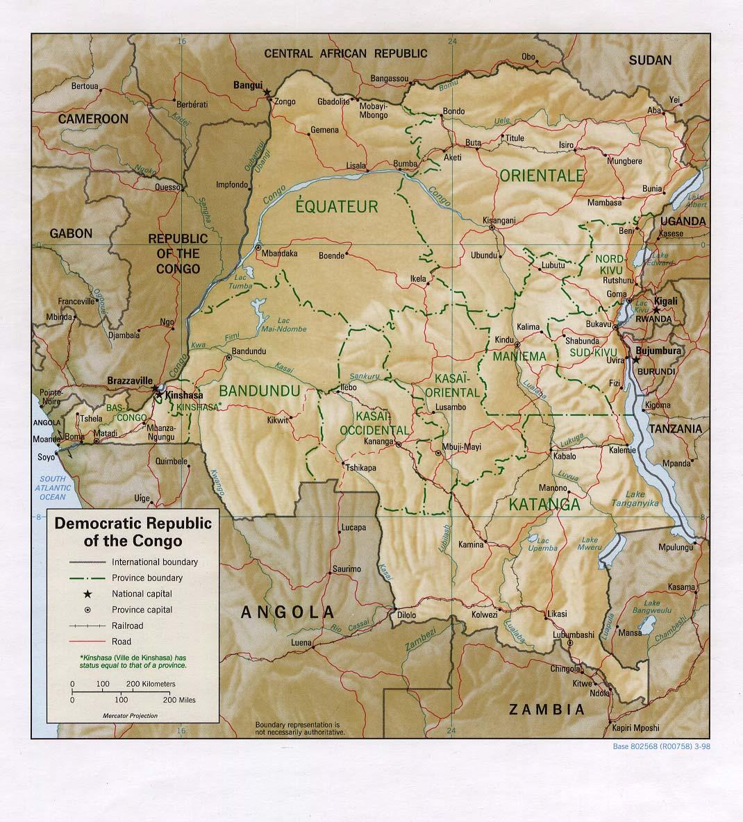 Mapa do Congo