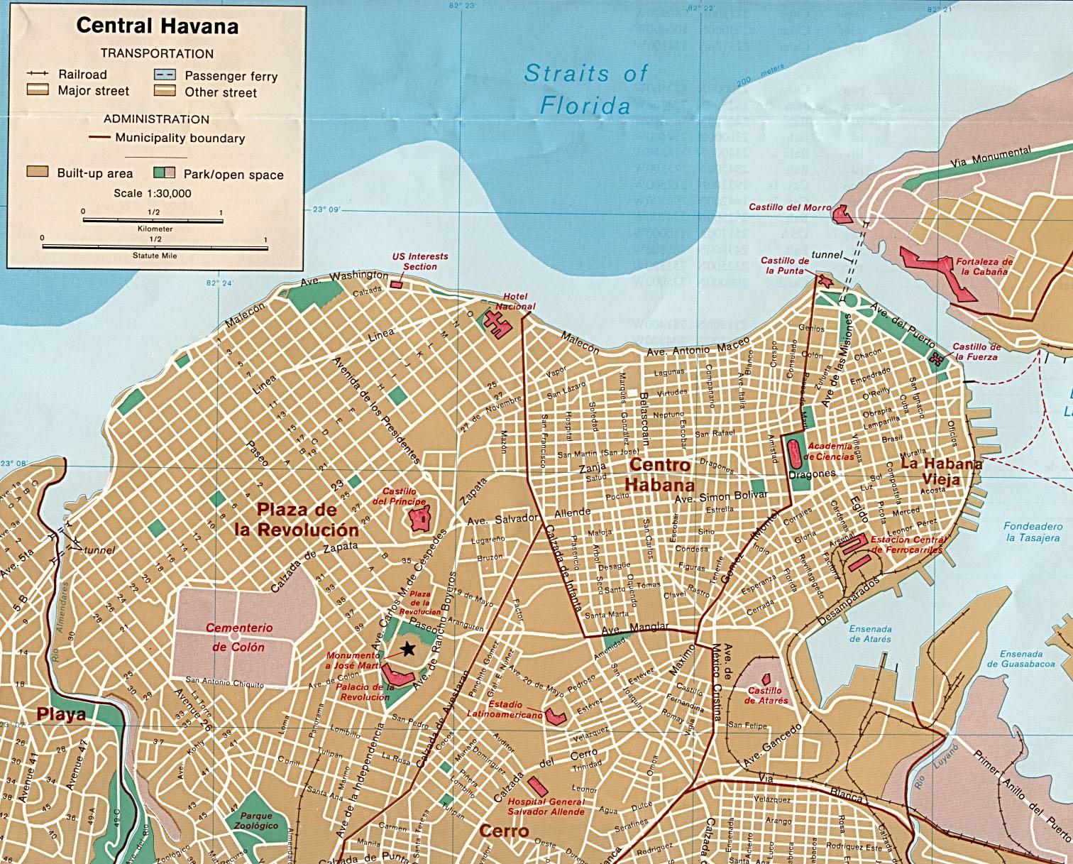 Mapa de Havana