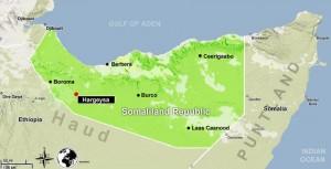 Mapa da Somalilandia