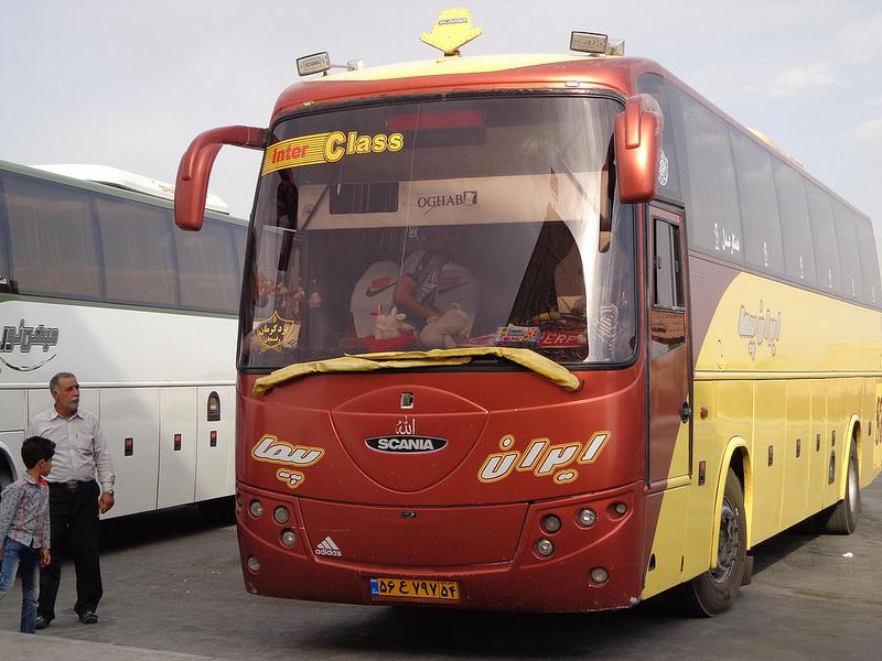 Autocarro Bam até Yazd via Kerman Irão 18