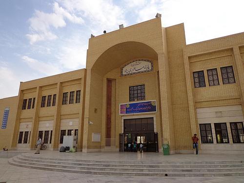 Fotografias do terminal de autocarros em Yazd, Irão 1