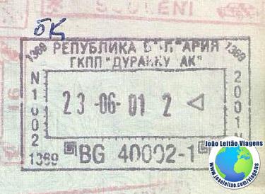 Carimbo Bulgaria (antes UE)