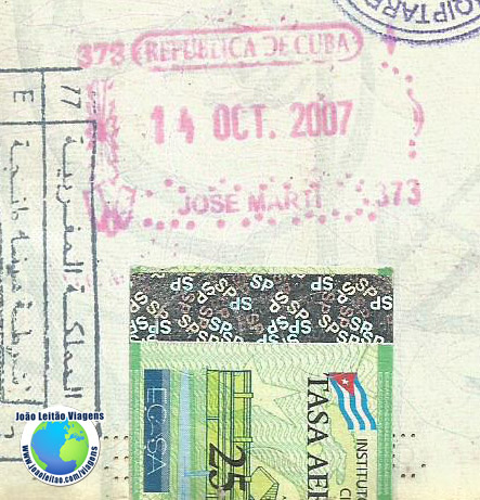 Carimbo e selo de Cuba