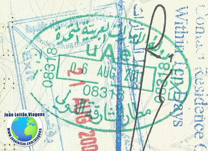 Carimbo Emirados Arabes (verde)