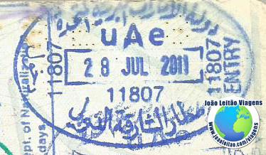 Carimbo Emirados Arabes (azul)