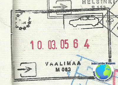 Carimbo Finlandia (carro)