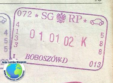Carimbo Polonia (carro)