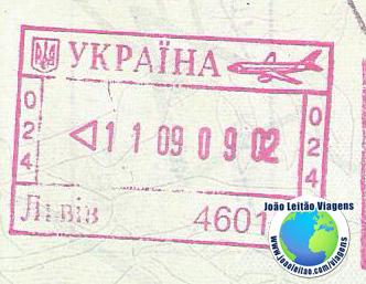 Carimbo Ucrania (rosa/aviao)