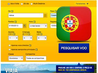 Comprar bilhete de aviao para Portugal