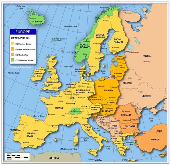 mapa europa ocidental Europa Ocidental e Oriental: Europa ocidental mapas mapa europa ocidental