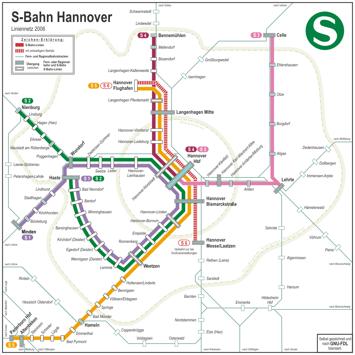 Mapa Metro Hannover, Alemanha 2