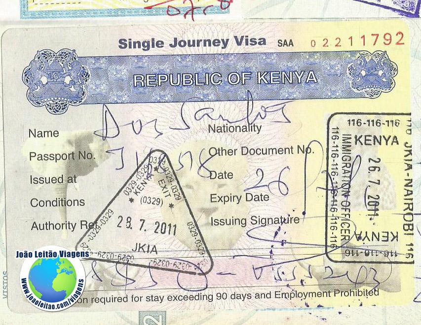 Visto Quenia (fronteira)