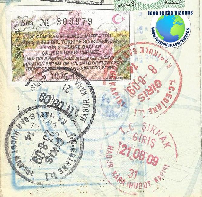 Visto Turquia (15 euros)