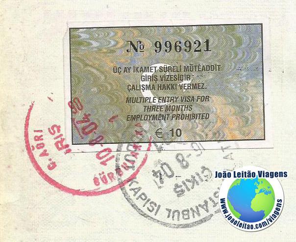 Visto Turquia (10 euros)