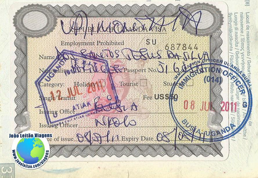 Visto Uganda (fronteira)