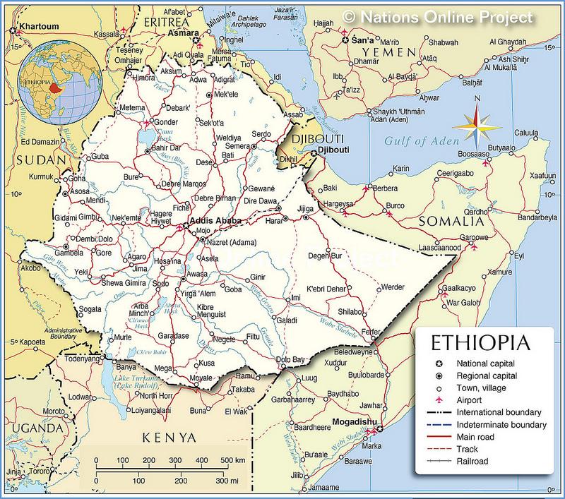 Mapas da Etiópia 1