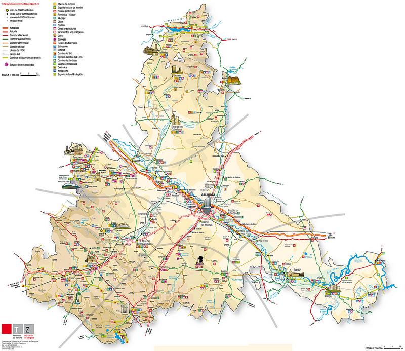 Mapas de Saragoça, Espanha 1