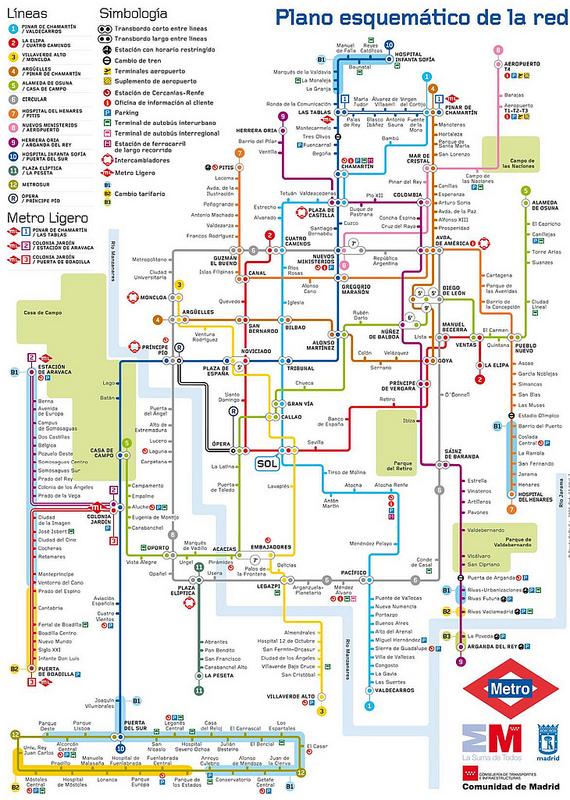 Mapas Transportes em Madrid 3