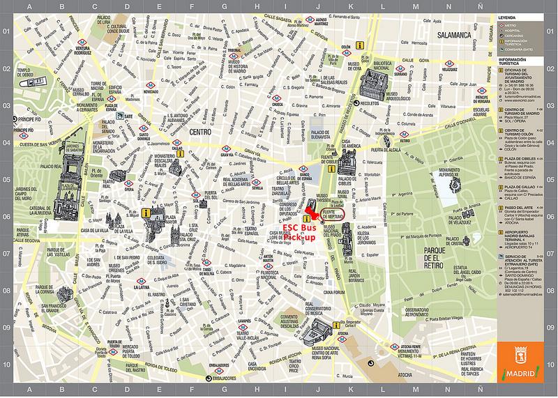 Mapas de Madrid, Espanha 4