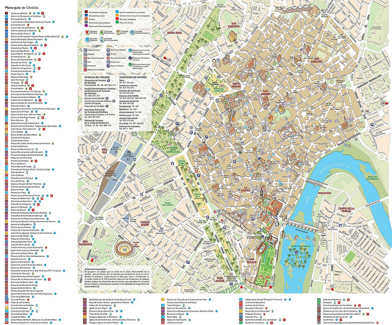 Mapas de Córdova, Espanha 1