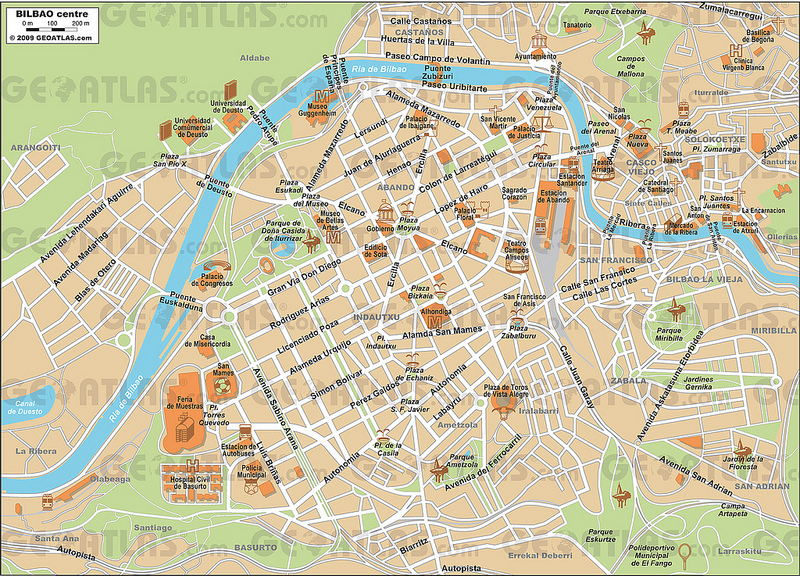 Mapas de Bilbau, Espanha 1